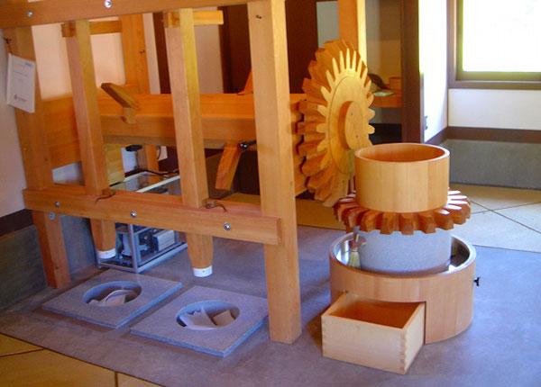 洞爺財田自然体験ハウスの発電水車