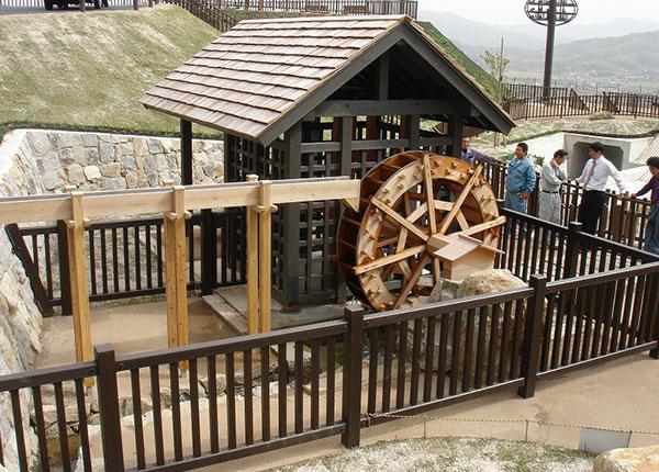 柳井ウェルネスパークの水車